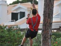 Mike hanging from a tree 2 (Portugal ARWC 2009)