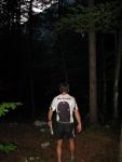 Chris looking for a camp site (Slovenia)