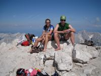 Em + Cris at top (Triglav Nat. Park, Slovenia)