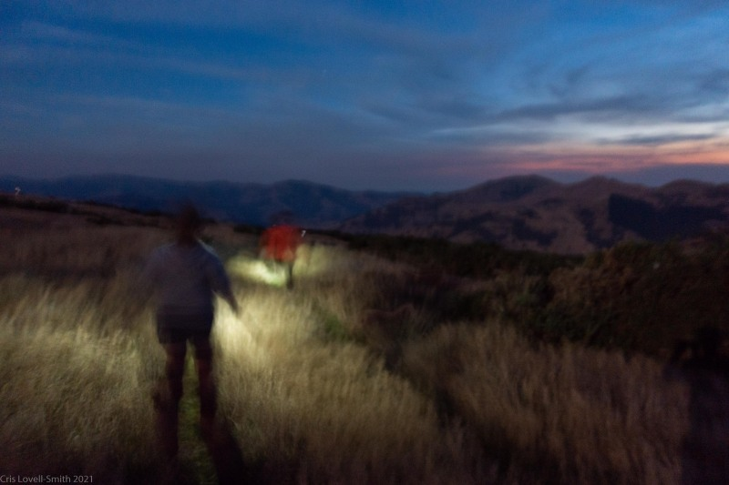 Blurry walking in the night (Rod Donald Hut March 2021)