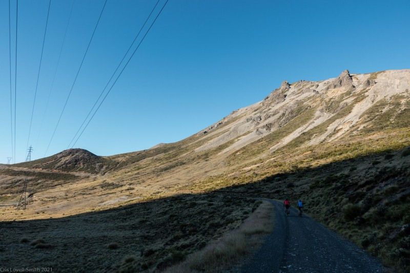 Ascending into sunshine (Cycling St James)