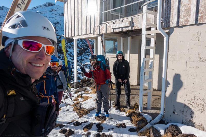 About to set off up the mountain (Tongariro Adventures July 2021)