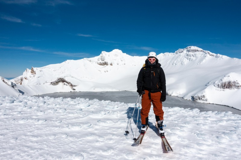 Cris infront of the Crater Lake (Tongariro Adventures July 2021)