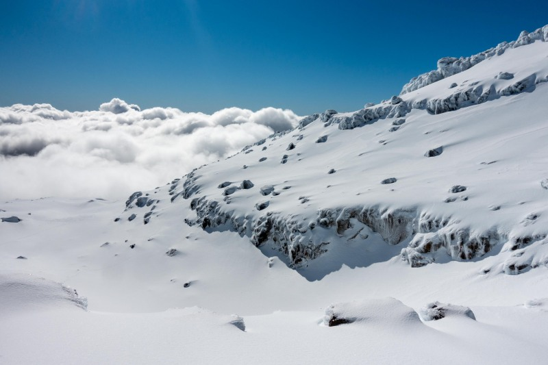 Snow and clouds (Tongariro Adventures July 2021)