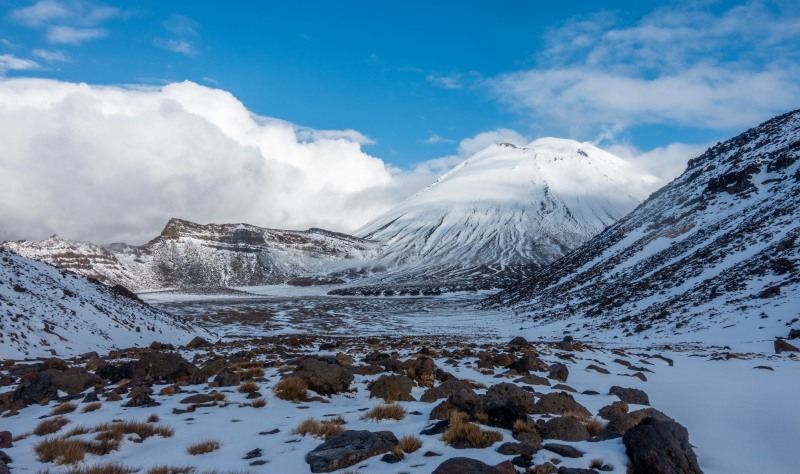 View into South Crater (Tongariro Adventures July 2021)