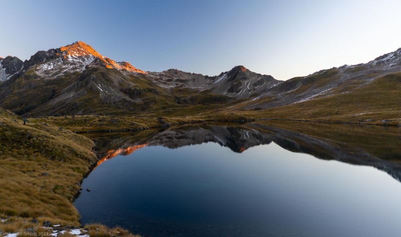 View from the hut across the lake (Tramping Angelus Hut May 2021)
