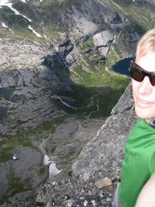 Cris at the top of a mountain (Bodo, Norway) 1 resize