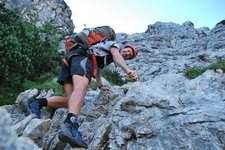 Chris climbing (Triglav Nat