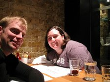 Cris and Greer at Dinner (London) resize