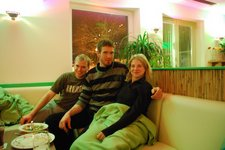 Cris, Martin, and Katharina (Eating out, Oberstdorf) resize