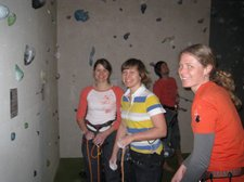 Frauke and her friends at the wall (Oberstdorf, Germany) resize