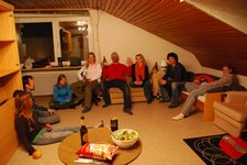 Martin is overjoyed (Dinner at my flat, Oberstdorf, Germany) resize