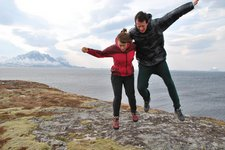 Emily and Chris lift off (Norway) resize