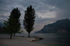 By the lake in the evening (Lago di Garda, Italy) resize