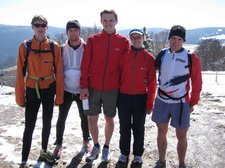 Cris, Julian, Benni, Steffi, Nico on the Shauinsland summit 3 (Freiburg) resize
