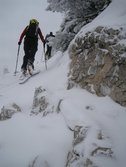 Frauke walking up (Ski touring, Allgaeu) resize