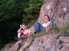 Anna and Judith 3 (Climbing Shauinsland, Freiburg, Germany) resize