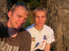Cris and Jakob (Climbing Shauinsland, Freiburg, Germany) resize