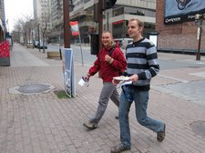 Sebastian and Jakob heading to the conference (Montreal, Canada) resize