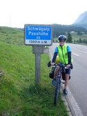 Gina at the Schwägalp pass (Cycle Touring, Switzerland) resize