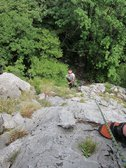 Multi-pitch route with Jakob (Lago di Lecco) resize