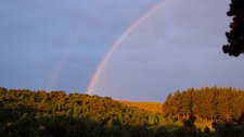 Rainbow after the race (Halswell Quarry) resize