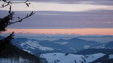 Sunset on alps 2 (Schauinsland spur, Freiburg) resize
