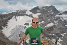 Cris after completing run (Glacier 3000 run) resize