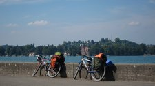 Bikes at the Bodensee (Cycle touring Bodensee) resize