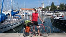 Cris and harbour (Cycle touring Bodensee) resize