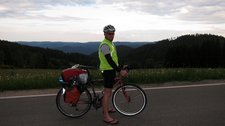 Cris the cycle tourist (Cycle touring Schwarzwald) resize