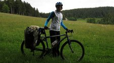 Leonie in field (Cycle touring Schwarzwald) resize