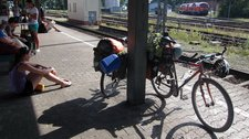 Waiting for the train (Cycle touring Bodensee) resize