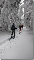 Walking through the corridor (Ski touring, Stollenbacher hütte)