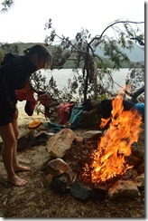 Leonie burning the beach down (Seakayaking Manapouri)