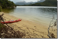 View from campsite 2 (Seakayaking Manapouri)