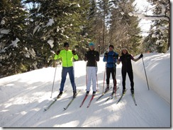 Some cross country skiing fun at Schauinsland
