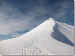 Last ascent to the summit (Ski tour Schwalmere Feb 2013)