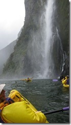 Nearing the waterfall 2 (Milford Sound)