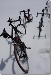 Difficult conditions for riding (Cycling Dolomites)