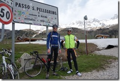 Marco and Cris at Passo San Pellegrino (Cycling Dolomites)