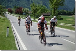 Sprinting to the finish line on Stage 2 (Tour de Kärnten 2013)