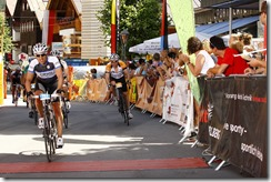 Cris sprinting to the finish line (Arlberg Giro 2013)