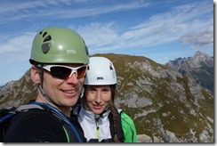 Cris and Leonie in the hills (Karhorn Klettersteig)