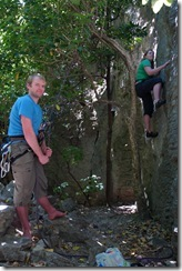 Climbing with Holly (Takaka 2013)