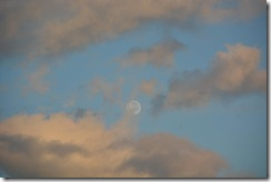 Moon at sunset (Takaka 2013)