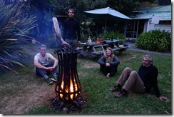 Sitting by the fire (Takaka 2013)