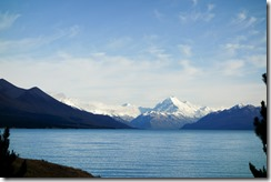 View across Lake Pukaki to Mt Cook (Mueller Hut Jan 2014)