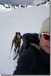 Going up some more (Ski tour Gerenfalben Feb 2014)