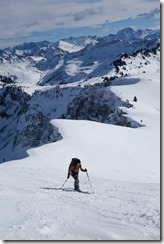 Leonie heading towards the summit 2 (Ski tour Hohe Matona Feb 2014)